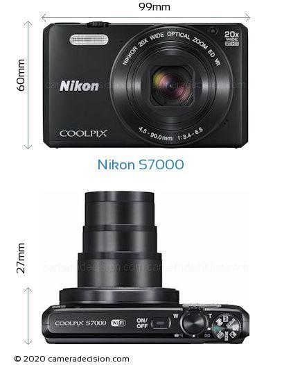 Nikon S7000 Body Size Dimensions