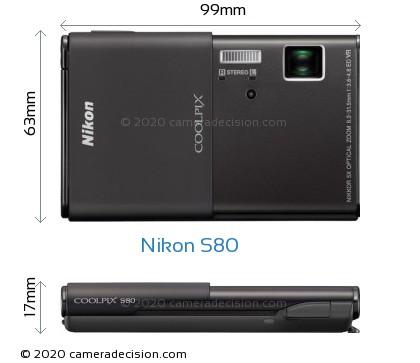 Nikon S80 Body Size Dimensions