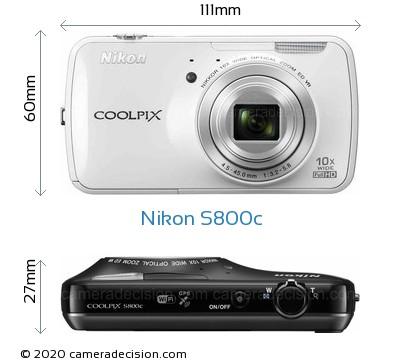Nikon S800c Body Size Dimensions