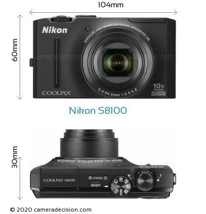 Nikon S8100 Body Size Dimensions