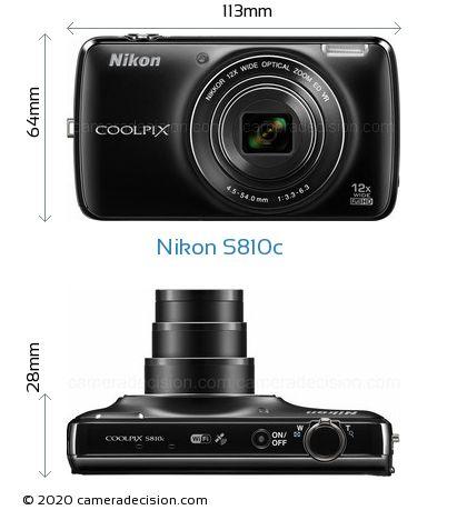 Nikon S810c Body Size Dimensions