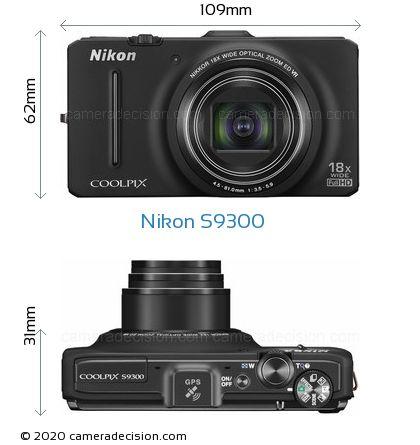 Nikon S9300 Body Size Dimensions
