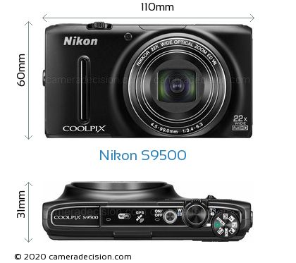 Nikon S9500 Body Size Dimensions