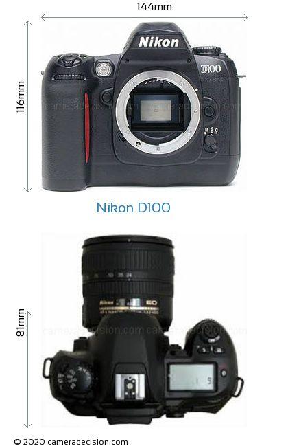 Nikon D100 Body Size Dimensions