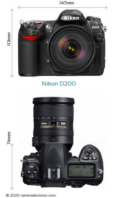 Nikon D200 Body Size Dimensions