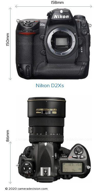 Nikon D2Xs Body Size Dimensions