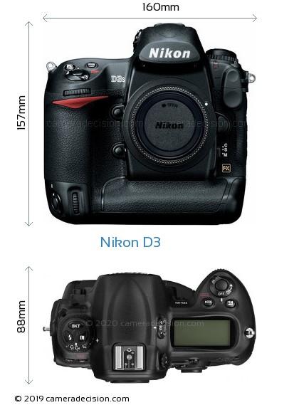 Nikon D3 Body Size Dimensions
