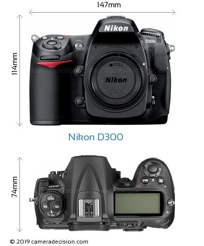 Nikon D300 Body Size Dimensions