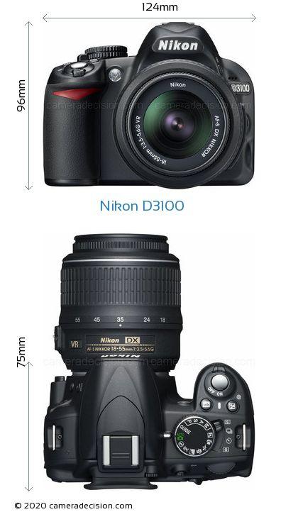 Nikon D3100 Body Size Dimensions