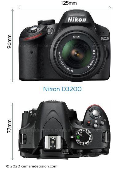 Nikon D3200 Body Size Dimensions