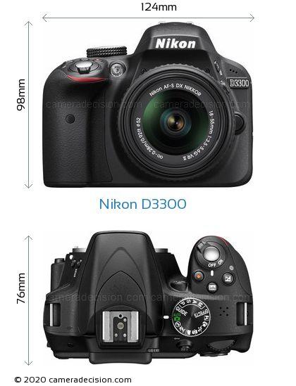 Nikon D3300 Body Size Dimensions