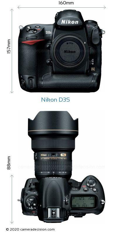 Nikon D3S Body Size Dimensions