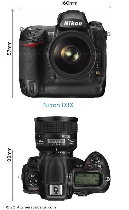 Nikon D3X Body Size Dimensions
