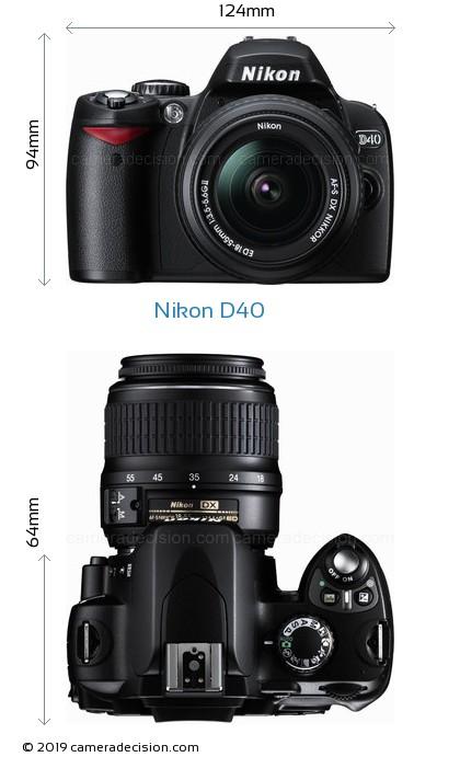 Nikon D40 Body Size Dimensions