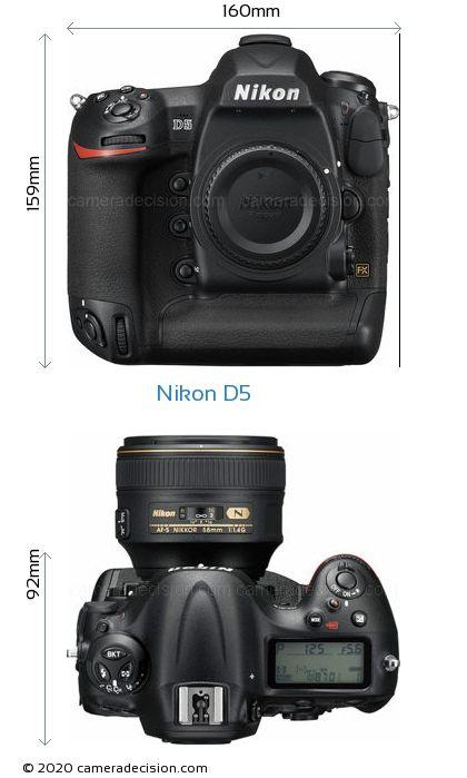 Nikon D5 Body Size Dimensions