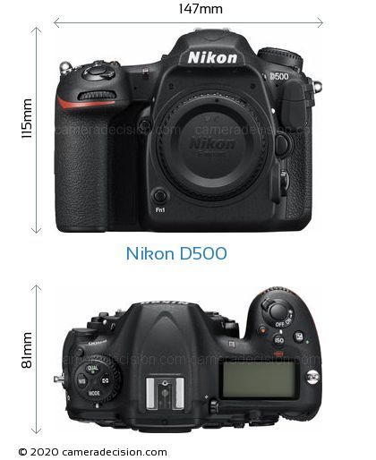 Nikon D500 Body Size Dimensions