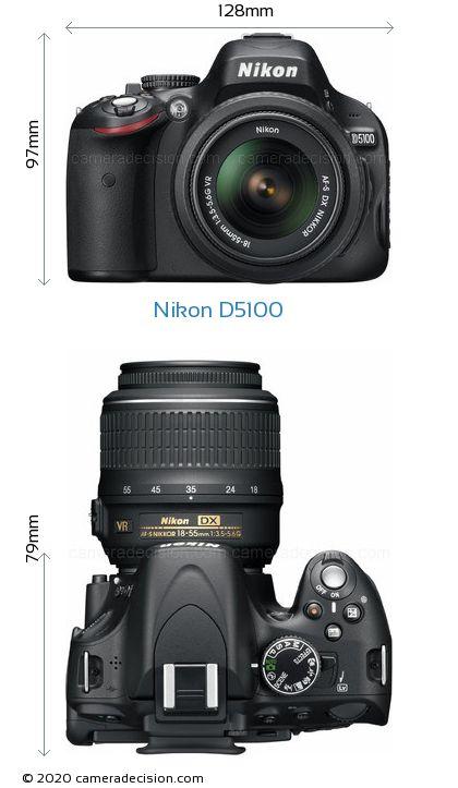 Nikon D5100 Body Size Dimensions