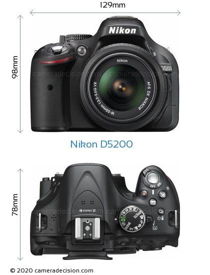 Nikon D5200 Body Size Dimensions