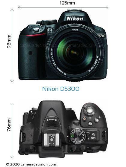 Nikon D5300 Body Size Dimensions