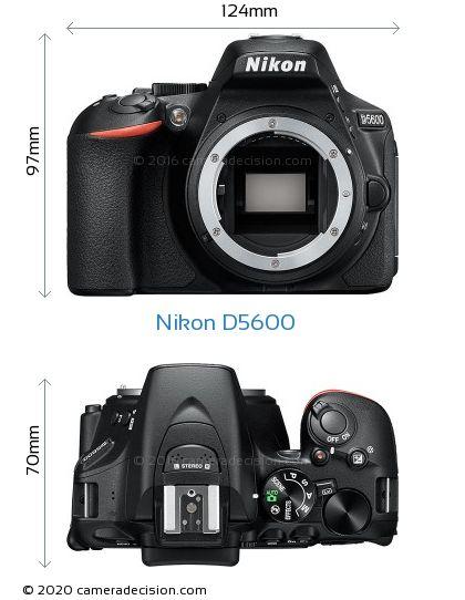 Nikon D5600 Body Size Dimensions