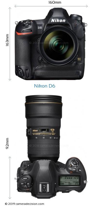 Nikon D6 Body Size Dimensions