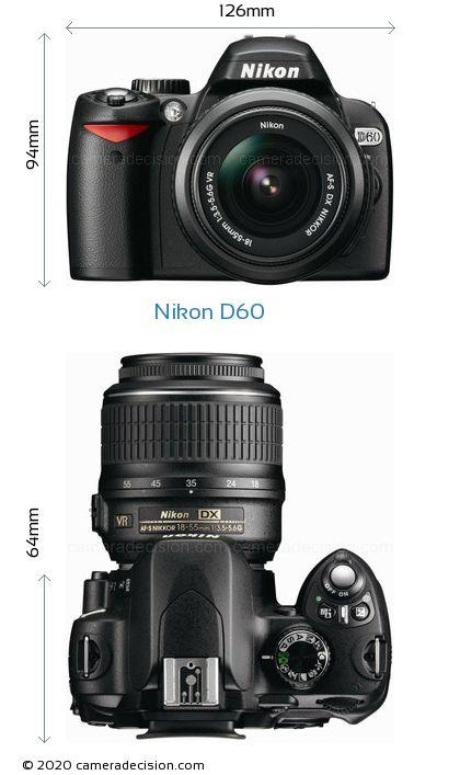 Nikon D60 Body Size Dimensions