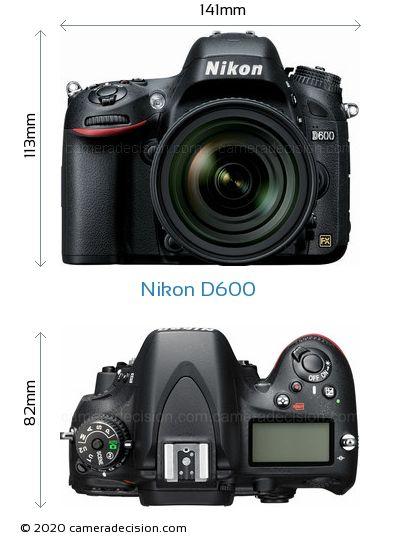 Nikon D600 Body Size Dimensions