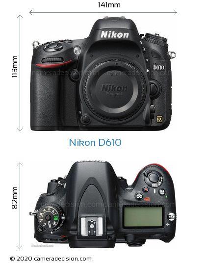 Nikon D610 Body Size Dimensions