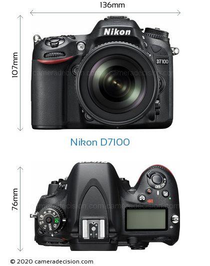 Nikon D7100 Body Size Dimensions