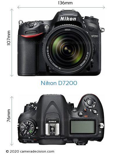 Nikon D7200 Body Size Dimensions