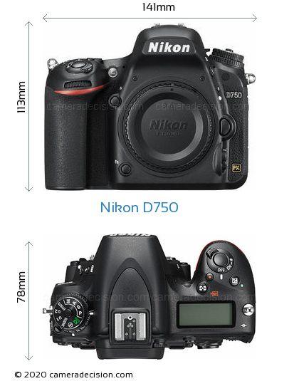 Nikon D750 Body Size Dimensions