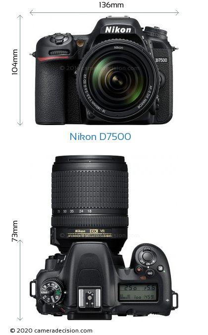 Nikon D7500 Body Size Dimensions