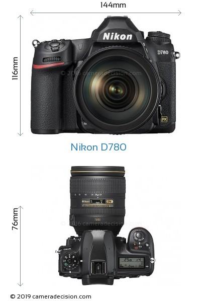 Nikon D780 Body Size Dimensions