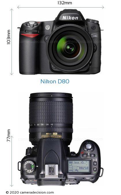 Nikon D80 Body Size Dimensions