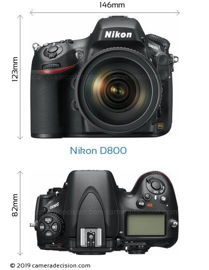 Nikon D800 Body Size Dimensions