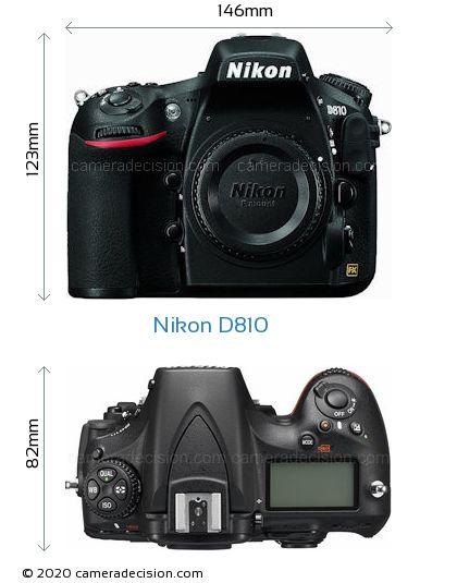 Nikon D810 Body Size Dimensions