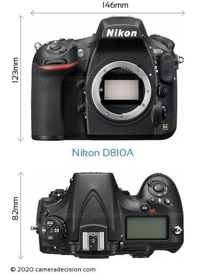 Nikon D810A Body Size Dimensions