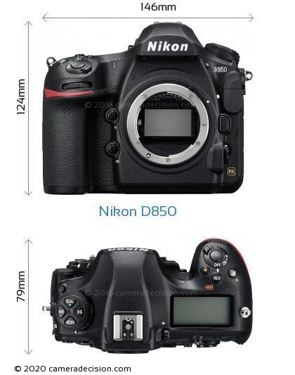 Nikon D850 Body Size Dimensions