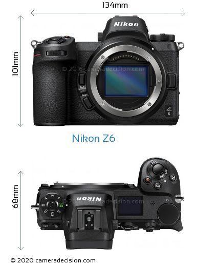 Nikon Z6 Body Size Dimensions