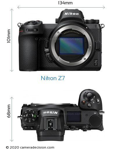 Nikon Z 7 Body Size Dimensions