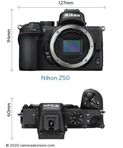 Nikon Z50 Body Size Dimensions