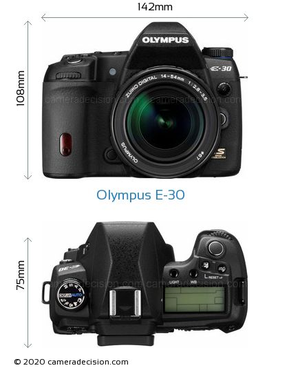Olympus E-30 Body Size Dimensions