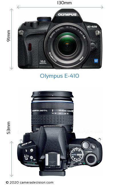 Olympus E-410 Body Size Dimensions