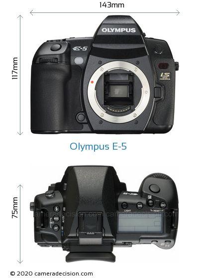 Olympus E-5 Body Size Dimensions