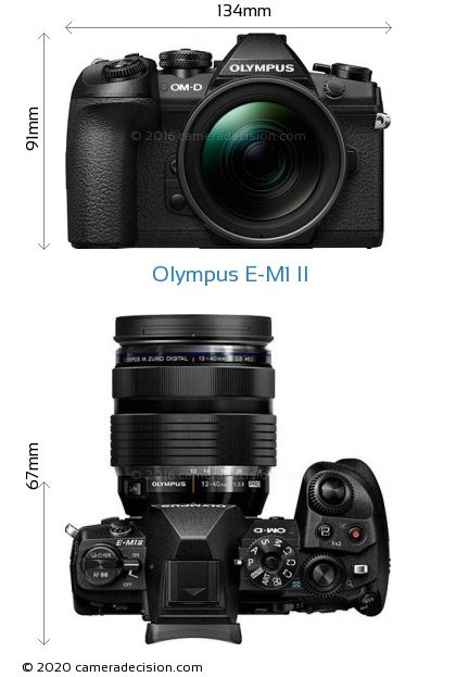 Olympus E-M1 II Body Size Dimensions
