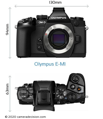 Olympus E-M1 Body Size Dimensions