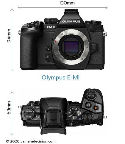 Olympus E-M1 Body Size Dimensions