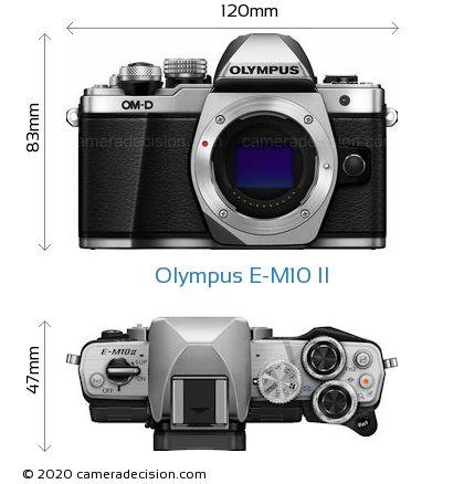 Olympus E-M10 II Body Size Dimensions