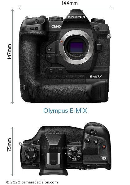 Olympus E-M1X Body Size Dimensions