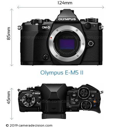 Olympus E-M5 II Body Size Dimensions